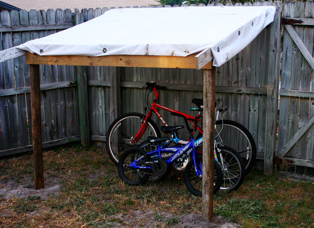 Backyard bike lean-to | Yellowswirl