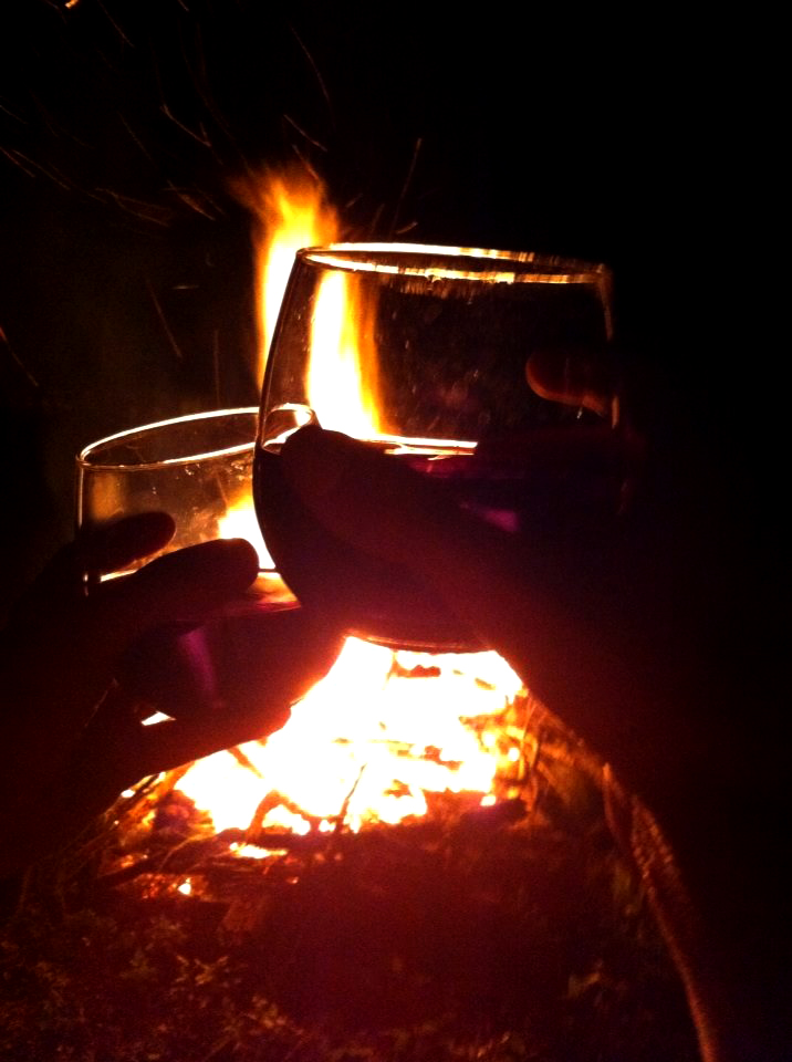 bonfires and wine